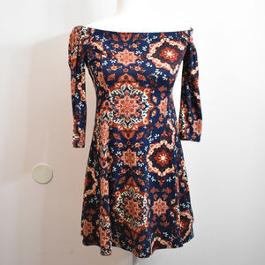 Ambiance Half Sleeve Off the Shoulder Dress Large